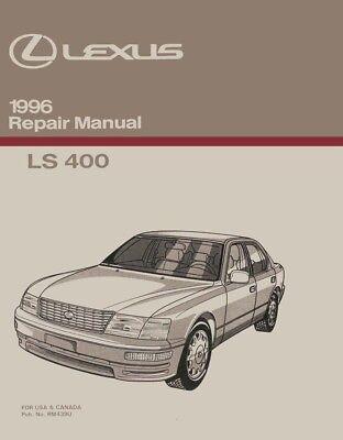 1996 Lexus LS 400 Shop Service Repair Manual Book Engine Drivetrain OEM