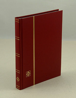 "Lighthouse 32 Page Hardcover Stockbook (6 1/2"" X9"") , Red-LS2/16"