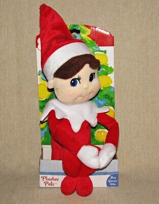 "Elf on the Shelf Boy Plushee Pal 17"" Plush Doll Toy NEW"