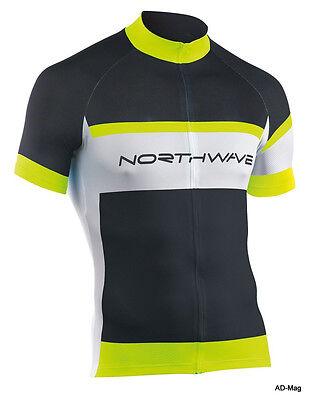 Maillot de Vélo - NORTHWAVE 89151072 Logo Jersey - Noir/Jaune Fluo -...