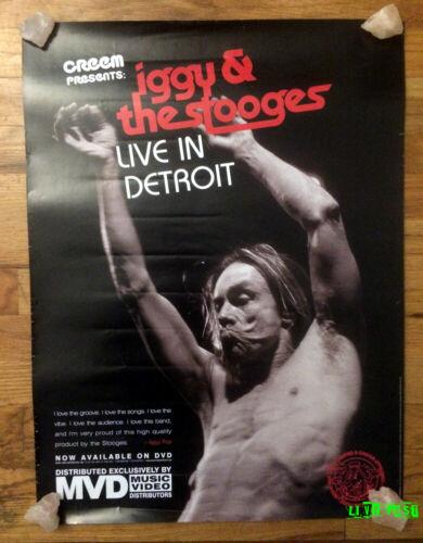 IGGY & THE STOOGES LIVE IN DETROIT PROMO POSTER vintage dvd movie rental advert