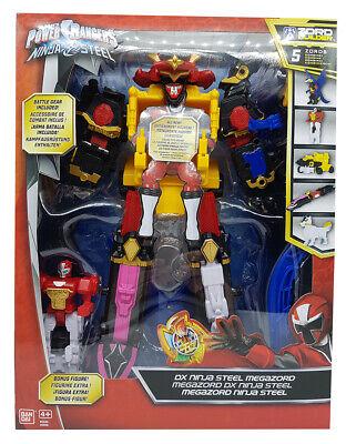 Power Ranger Megazord DX Action-Figur Ninja Steel Deluxe für Jungen gelb NEUWARE ()