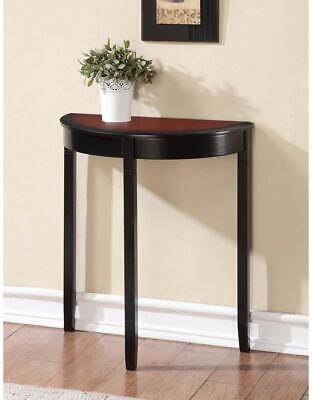 Antique Look Wooden Sofa Table Console Living Room Hall Entry Dark Cherry Finish Antique Cherry Finish