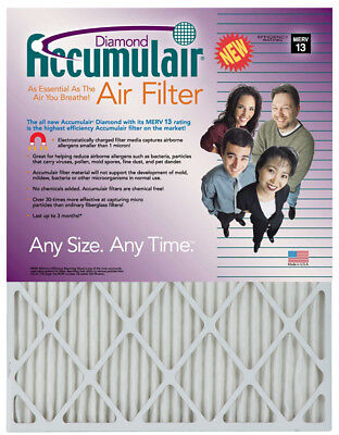 Accumulair Diamond 20x20x1  MERV 13 Air Filter/Furnace Filte