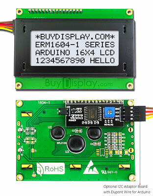 White Iici2ctwi Character 16x4 Lcd Display Module For Arduino Wwirelibrary