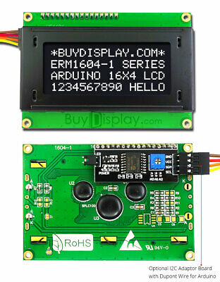 Black Iici2ctwi Character 16x4 Serial Lcd Module Display For Arduino Wlibrary