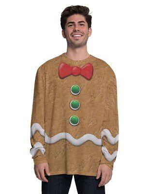 Faux Real Lebkuchenmann Cookie Weihnachten Holiday Hemd Kostüm - Cookie Mann Kostüm