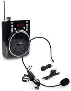 New - MINI PORTABLE BLUETOOTH PA SYSTEM AND RADIO WITH HANDS FREE MICROPHONE !!!