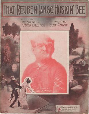 That Reuben Tango Huskin' Bee, Harry Williams, 1914  Vintage Sheet Music