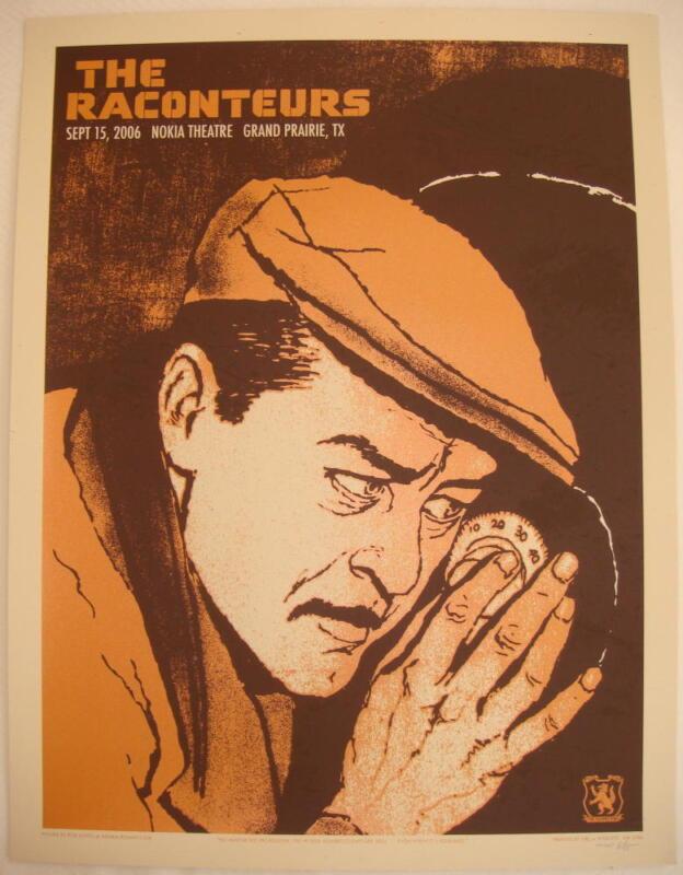 2006 The Raconteurs - Grand Prairie Silkscreen Concert Poster S/N by Rob Jones
