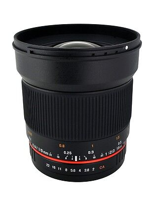 Rokinon 16mm F2.0 Ultra Wide Angle Lens for Canon, Nikon, Sony, MFT, Pentax +
