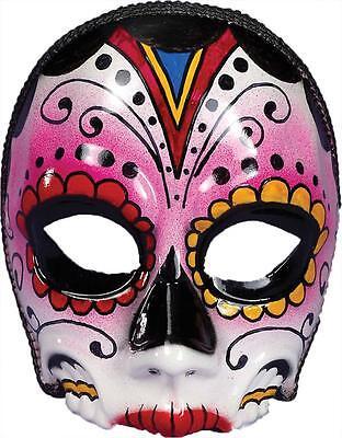 oten Mexiko Fest Weiblich Gesichtsmaske Kostüm FM73641 (Weiblich Tag Der Toten Kostüm)