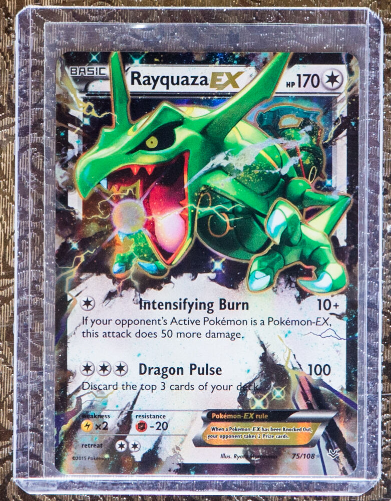 pokemon rayquaza ex 75108 xy roaring skies ultra rare
