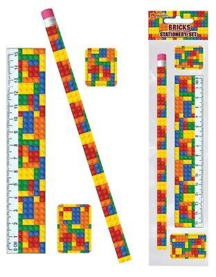 6 Building Blocks Stationery Sets - Pinata Toy Loot/Party Bag Fillers Wedding](Wedding Stationery Sets)