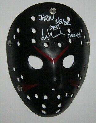 Original JASON ARI LEHMAN AUTOGRAPHED / SIGNED FRIDAY THE 13TH MASK BECKETT - Jason Mask Original