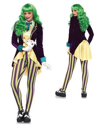 Womens Sexy Wicked Trickster Joker Costume - Joker Costume For Woman