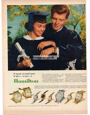 1954 Hamilton Watch Graduation Present Vtg Print Ad