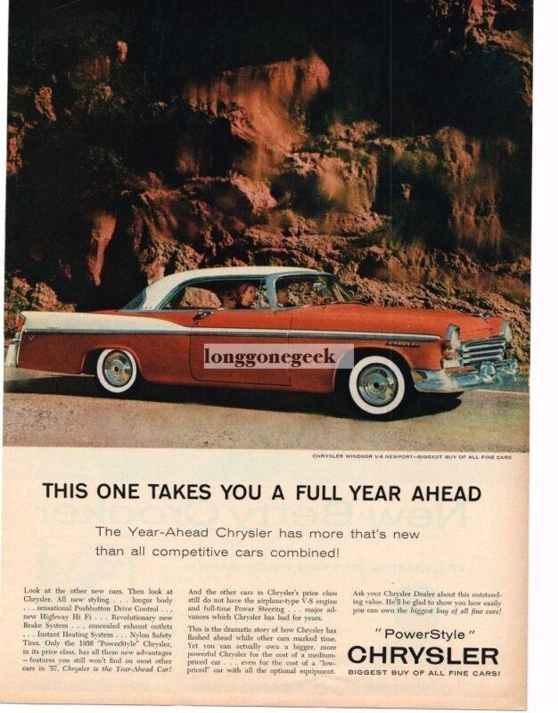 1957 Chrysler Windsor V8 Newport 2-door coupe Vintage Ad