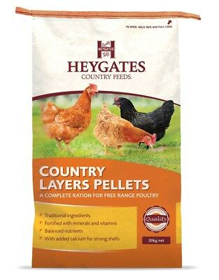 Heygates Country Layers Pellets 20 kg Chickens Poultry Feed