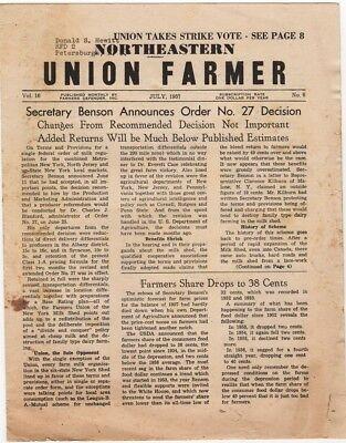 Northeastern Union Farmer July 1957 STRIKE vintage agricultural newspaper