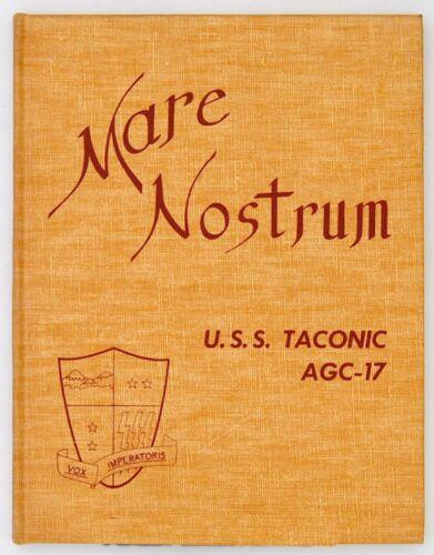 USS TACONIC AGC-17 1963 MEDITERRANEAN CRUISE BOOK