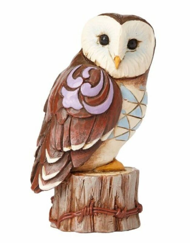 Jim Shore Heartwood Creek Miniature Barn Owl Figurine 4055064 New Bird Mini