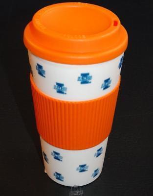 Illinois Fighting Illini 16 Oz Plastic Tumbler Travel Cup Hot/Cold Coffee -