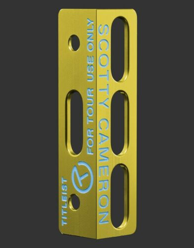 Scotty Cameron Putting Path Tool - Misted Bright Dip Yellow Gold