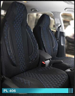 Sitzbezüge schwarz vorne HER AUDI 80