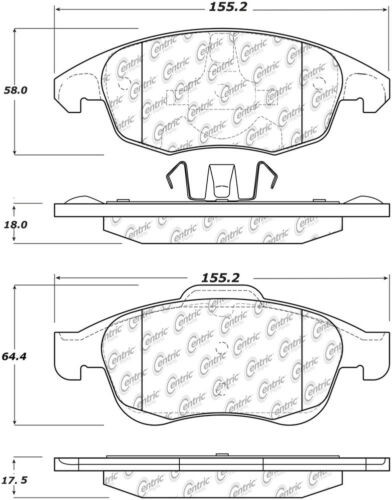 Disc Brake Pad Set-Tepee Front Centric 103.17170 fits 2013