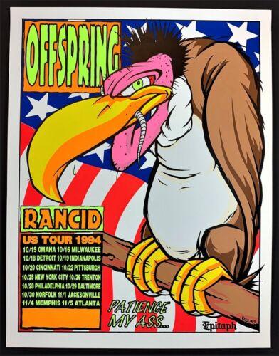 Offspring US Tour 1994 POSTER Rancid Silkscreen Kozik 94-36 Rare Promo Mint!