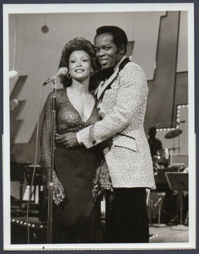 FREDA PAYNE & LOU RAWLS soul music R&B jazz pop singer VINTAGE ORIG TV PHOTO