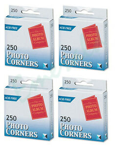 1000 x Photo Corners Transparent Acid Free (The Photo Company) Same Day Dispatch