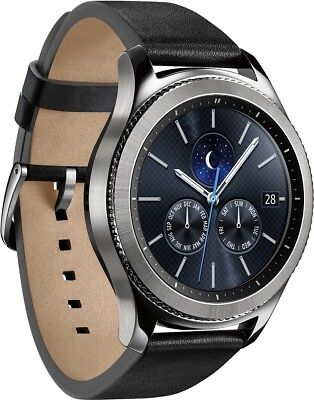 New Samsung Galaxy Machinery S3 Classic 46mm Silver Stainless Steel Case Watch ATT
