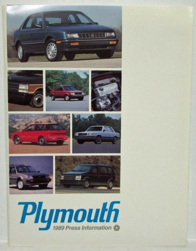 1989 Plymouth Press Kit - Reliant Sundance Voyager Fury Colt