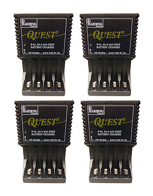 (4-Pack) Harding Energy AA AAA Battery Charger Quest 8 Hour NiMH 120V Plug-In