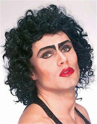 The Rocky Horror Picture Show: Frank N. Furter Curly Black Wig