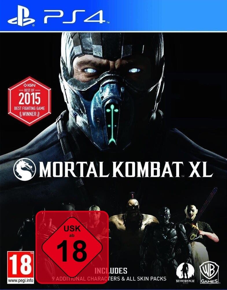 PS4 Spiel Mortal Kombat XL PS4 100% UNCUT + DLCs auf der DISC NEU OVP