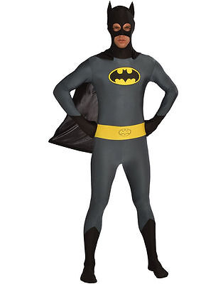 Batman Bodysuit Costume (Batman Costume for Men size M & L Stretch Bodysuit Classic New by Rubies)