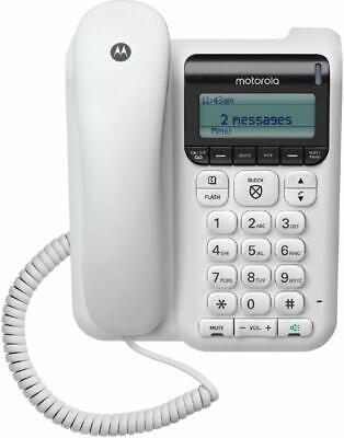 Motorola Corded Phone with Answering Machine, Call Block, Ca