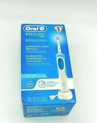 ओरल-बी प्रो 500 इलेक्ट्रिक पावर रिचार्जेबल टूथब्रश ब्रौन