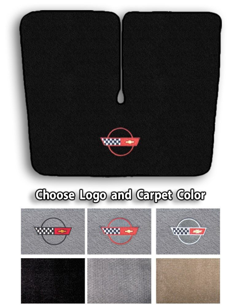 1984 1996 Chevrolet Corvette C4 Carpet Cargo Mat Choose Color Official Logo Ebay