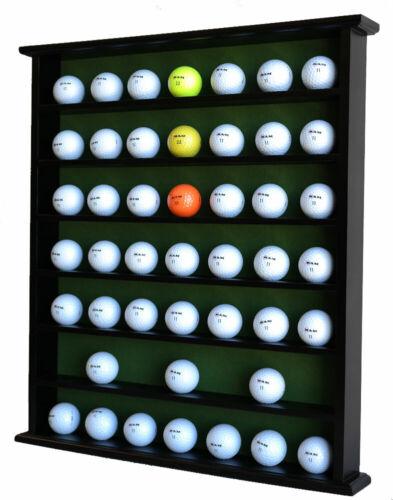 49 Golf Ball Display Case Cabinet Rack Wall Shelves, NO Door, Black
