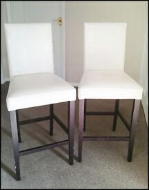 Set of Cream Breakfast chairs