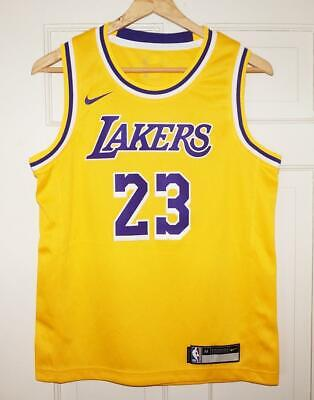 5e6c2103b Youth Nike LeBron James #23 LA Lakers Icon Edition Gold Swingman Jersey XL  18/20