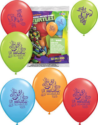 12 TEENAGE MUTANT NINJA TURTLE Balloons Birthday Decorations Party Supply Favors