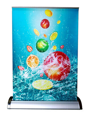 Table Top A3 Retractable Banner Stand With Banner Printing 11.5x16.5 P-r018