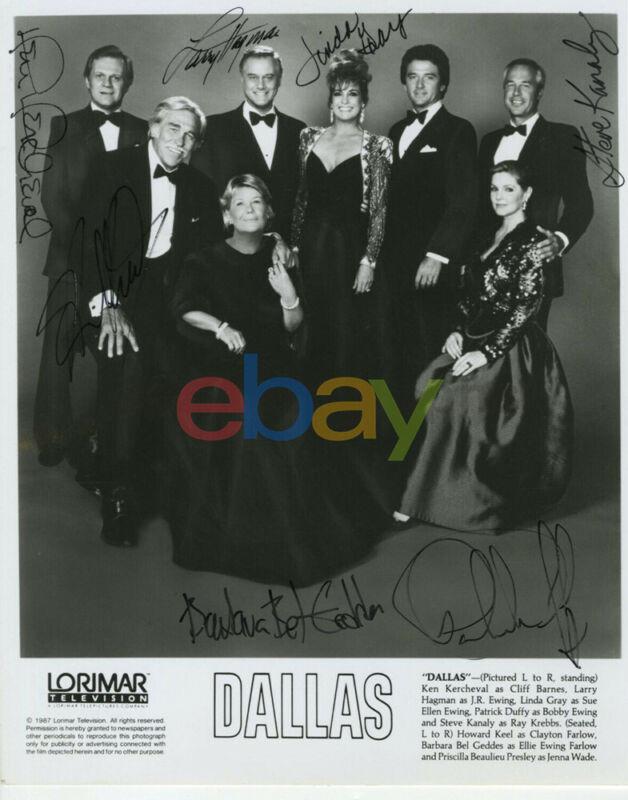 Dallas - Rare Cast x 7 - Vintage Signed 8x10 Photo reprint