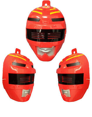 Child's Red Power Ranger Mask Costume Accessory (Red Power Ranger Mask)