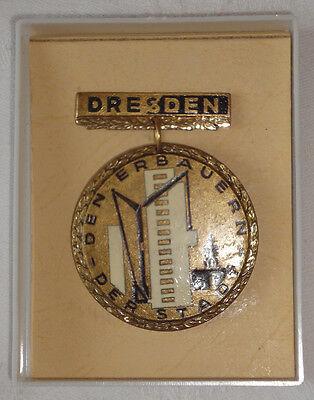 """DDR - DRESDEN - MEDAILLE """"Den Erbauern der Stadt"""" (12628/103N)"""